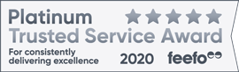 Feefo Platinum Trusted Service Award 2020