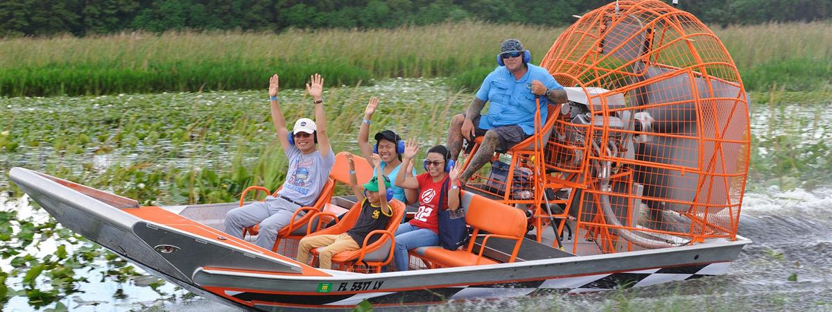 Boggy Creek Airboat Adventures in Kissimmee, Florida