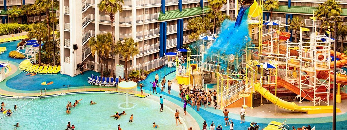 Holiday Inn Resort Orlando Suites Waterpark Orlando Fl Tripster,Black And White Wallpaper Bathroom