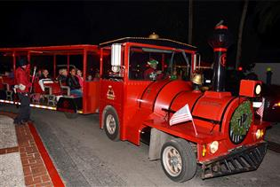 Ripley's Big Red Christmas Train in St. Augustine, Florida
