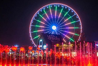 The Great Smoky Mountain Wheel in Pigeon Forge, Tennessee