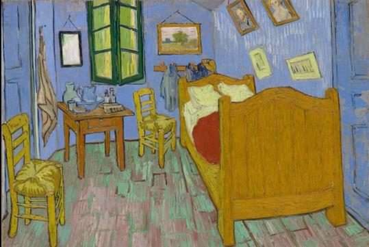 Vincent van Gogh. The Bedroom, 1889. Helen Birch Bartlett Memorial Collection. Courtesy of the Art Institute of Chicago