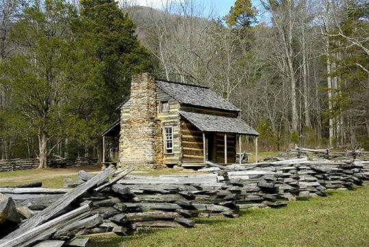 Cades Cove Bus Tour, a 5-hour tour of the historic Cades Cove Area in the Great Smoky Mountains National Park.