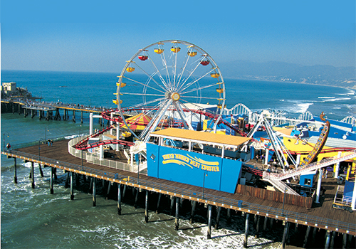 Santa Monica Pier -  City, Movie Star Homes & Beach Tour from Los Angeles in Hollywood, California