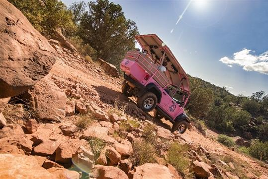 A rugged, high-desert outback adventure with Pink Jeep Tours, Sedona, Arizona.