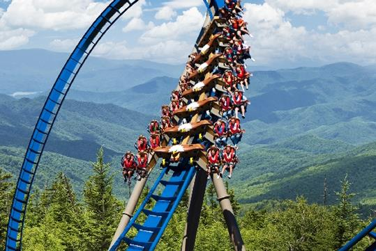 Wild Eagle at Dollywood in Pigeon Forge, Tennessee