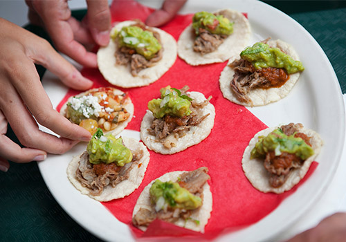 Mini Loteria Tacos - Farmers Market Food and History Tour in Los Angeles, California