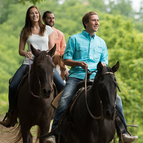 Horseback riding at Five Oaks Riding Stables is a great way to share time with family and friends.