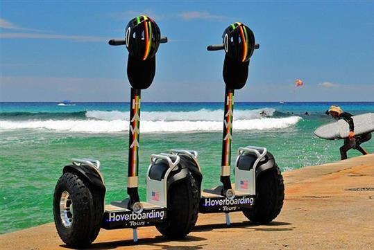 Enjoy a scenic guided tour of east Waikiki on a self-balancing all-terrain hoverboard.