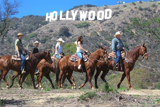 Hollywood Sign On Horseback with Transportation