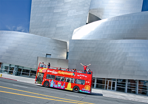 Walt Disney Concert Hall - Hop On-Hop Off Double Decker Tour from Anaheim in Anaheim, California