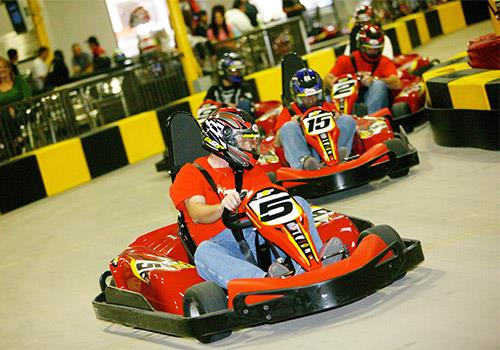 Fastest indoor racing in the USA on a giant, air conditioned indoor facility!