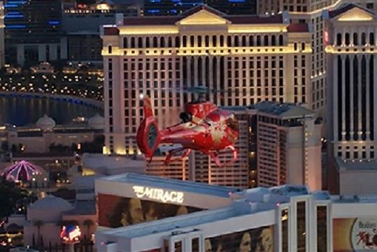 Jack of Lights Strip Helicopter Tour with Limo Transfer in Las Vegas, NV