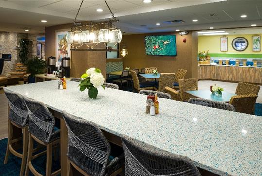 Complimentary healthy start breakfast at Margaritaville Island Inn in Pigeon Forge, Tennessee.