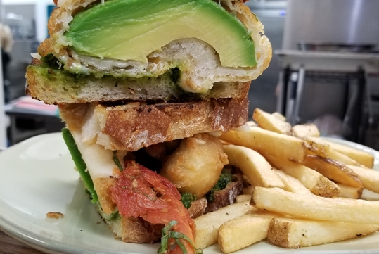 Grilled Chicken Avocado sandwich on the North O Side Tour