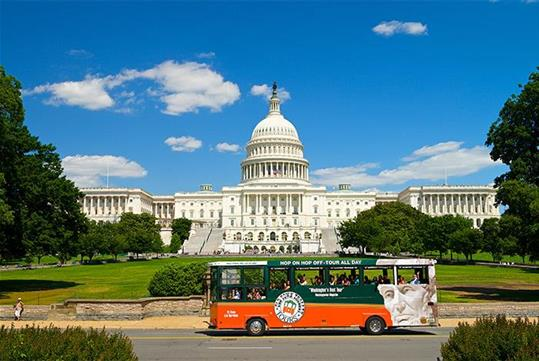 Trolley and Capitol Hill - Old Town Trolley Tours of Washington DC