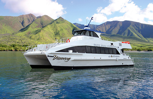 Ocean Discovery is our stable-eco friendly double deck catamaran for your dinner cruise