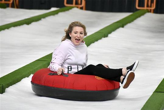 Year-round indoor snow tubing at Pigeon Forge Snow in Pigeon Forge, Tennessee