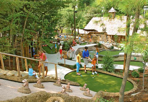 Ripley's Davy Crockett Mini-Golf in Gatlinburg, Tennessee