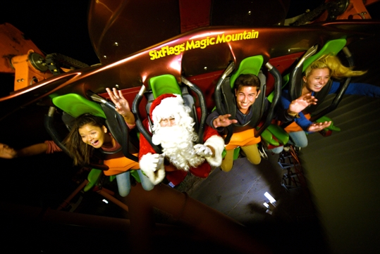 Holiday in the Park - Six Flags Magic Mountain in Valencia, California