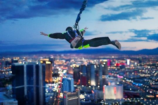 SkyJump at the Stratosphere Tower in Las Vegas, NV