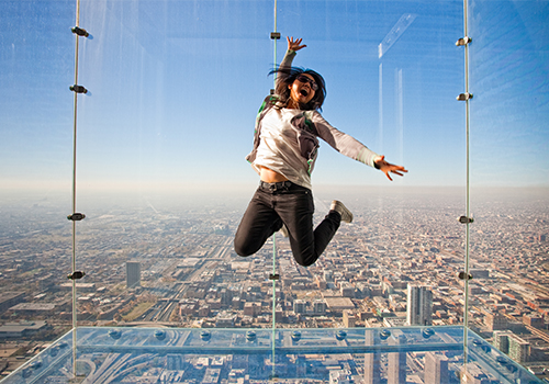 Skydeck Jump - Skydeck Chicago in Chicago, Illinois