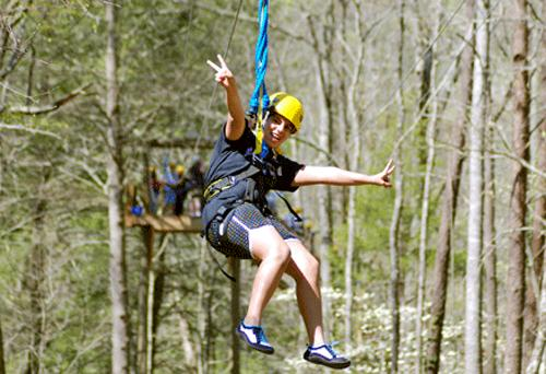 Zipline with Rafting in the Smokies in Gatlinburg, Tennessee