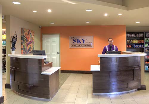 Front Desk at staySky Suites I-Drive Orlando
