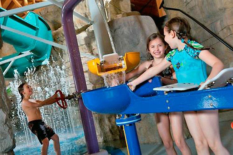 Kids play at Welk Resort's indoor water park in Branson