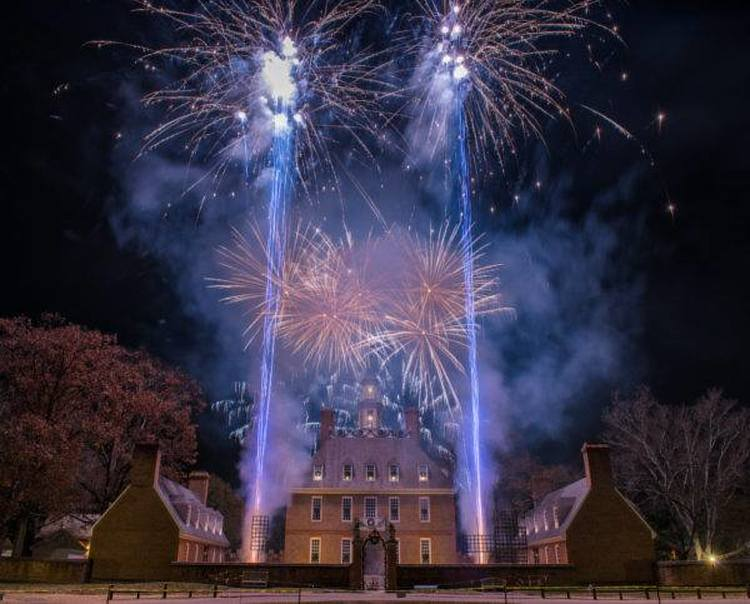 Grand Illumination Fireworks over Governor's Palace