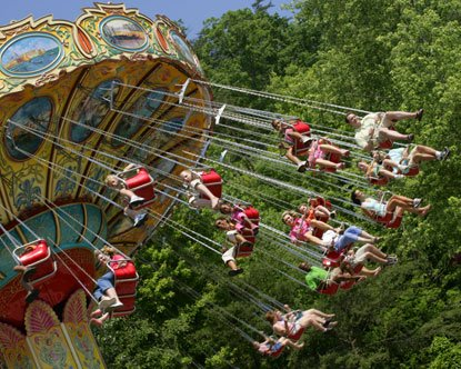 Riders go for a spin at Dollywood during their Pigeon Forge Spring Break.
