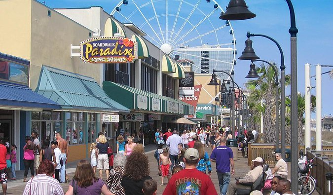 Strolling the Myrtle Beach Boardwalk is One of the Fun Things to Do in Myrtle Beach