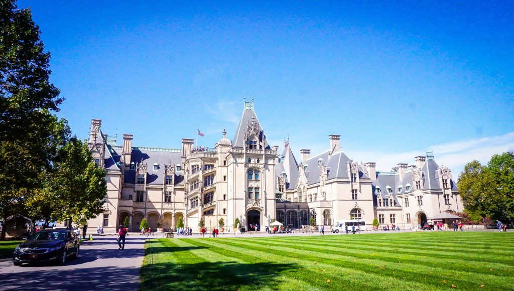 Exterior of the Biltmore Estate on a nice clear day. Biltmore Estate Festival Schedule