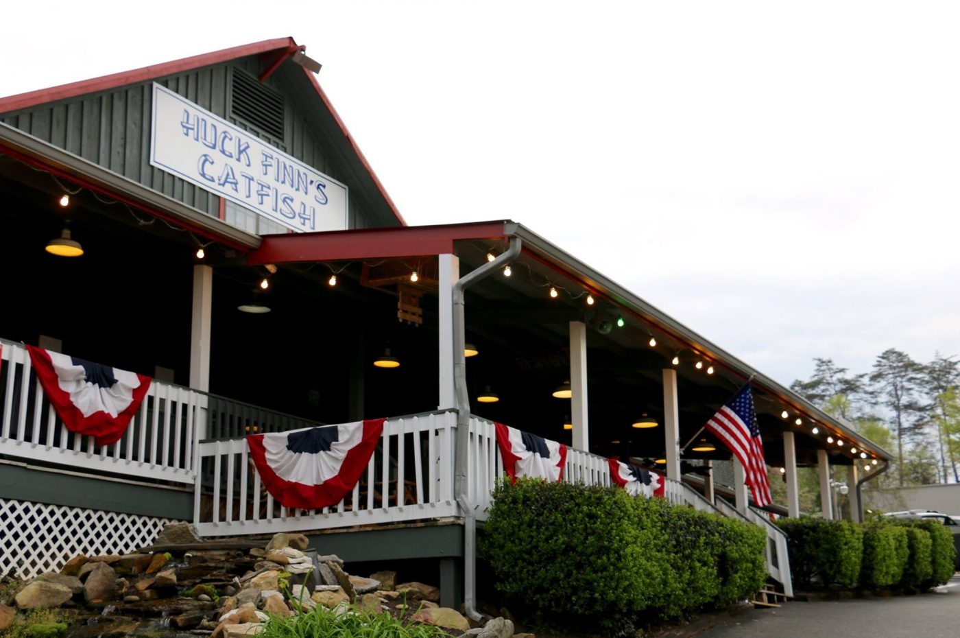Huck Finn's Catfish is renowned for their large portion sizes and menu options.