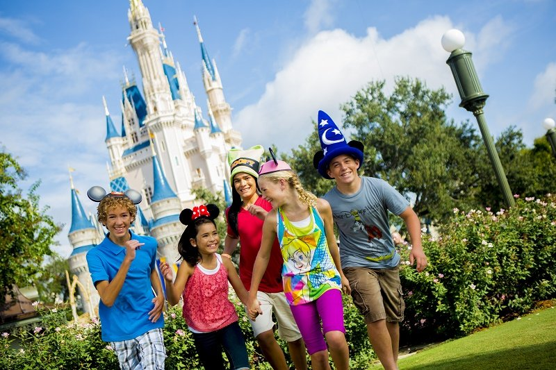 Disney World Kids at Castle Copyright Disney World in 3 Days