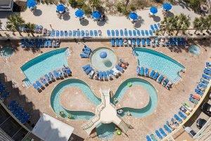 The exterior of Avista Resort, one of the beachfront Myrtle Beach resorts