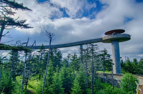 Clingman's Dome is one of the top things to do when planning a Gatlinburg Labor Day Weekend
