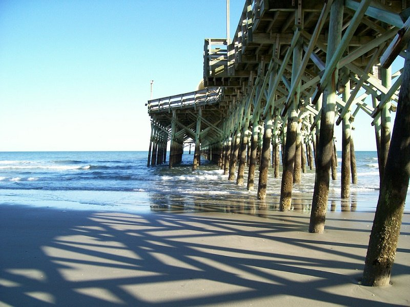 Apache Pier during a sunny day in Myrtle Beach