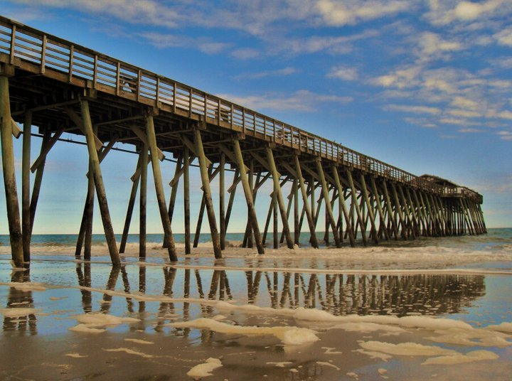 The Myrtle Beach State Park pier extends out into the Atlantic Ocean
