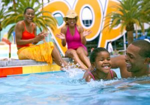 For outdoor pools in Orlando, book a stay at Pop Century Resort at Walt Disney World