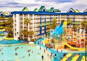 The Holiday Inn Resort Orlando Suites boasts an entire waterpark with outdoor pools, too.