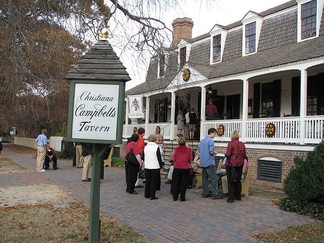 Christiana Cambell's Tavern is one of Colonial Williamsburg's historic taverns
