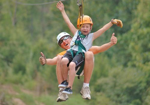 A Pigeon Forge Spring Break is made even more with a zipline tour!