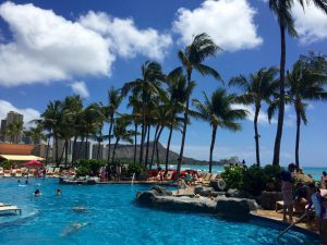 View from the pool at Sheraton Waikiki. Photo Credit: Sheraton Waikiki/Facebook