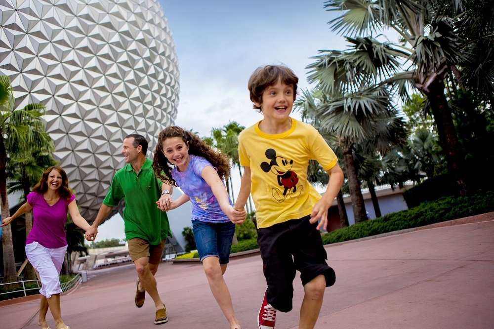 Outside of Spaceship Earth Disney World in 3 Days