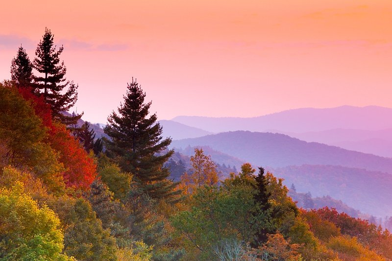 See the Smoky Mountain Fall Colors at the National Park and other destinations.