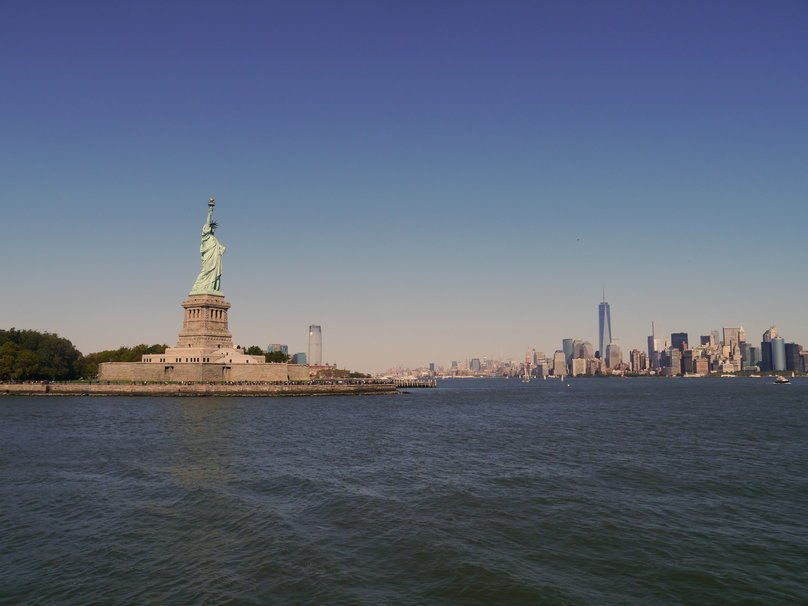 Statue of Liberty in the New York City harbor