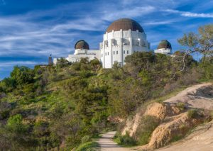 The Griffith Park Observatory is one of the best places to see the Los Angeles Hollywood Sign.