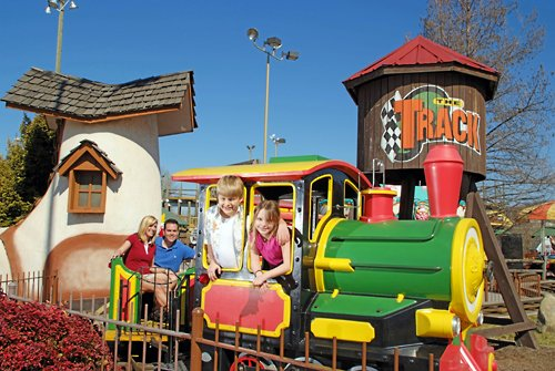 The Track features go-karts and other rides perfect for a Pigeon Forge Spring Break.