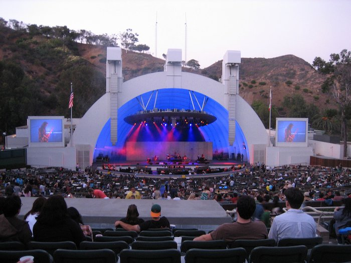A concert at the Hollywood Bowl in Los Angeles, California